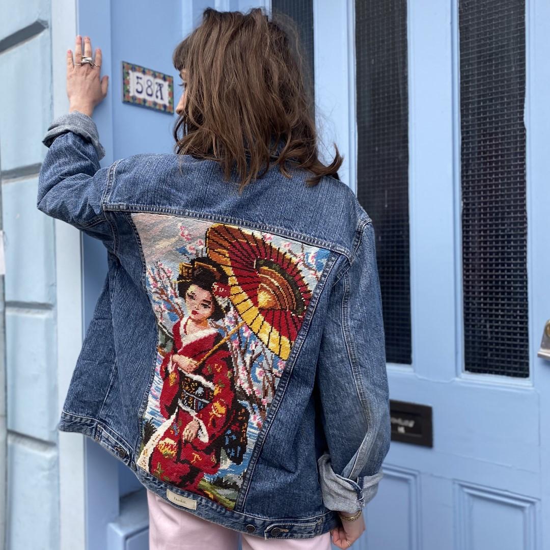 Frankie - embroidered denim jacket