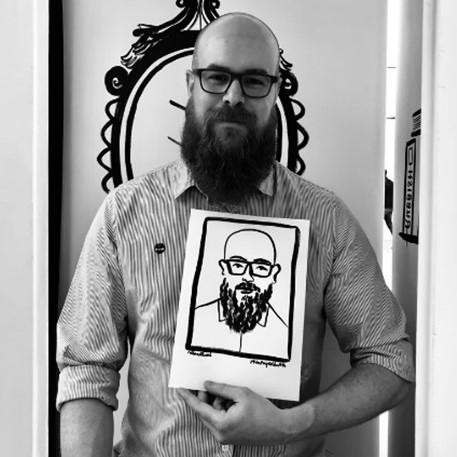 Rubbish Portraits portrait of bearded man