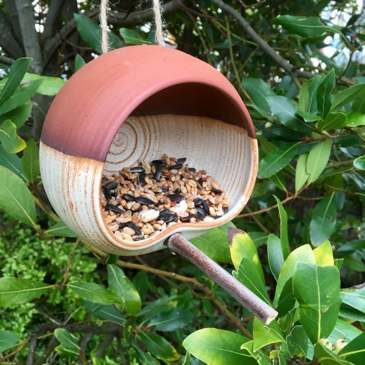 Wendy Calder Ceramics bird feeder