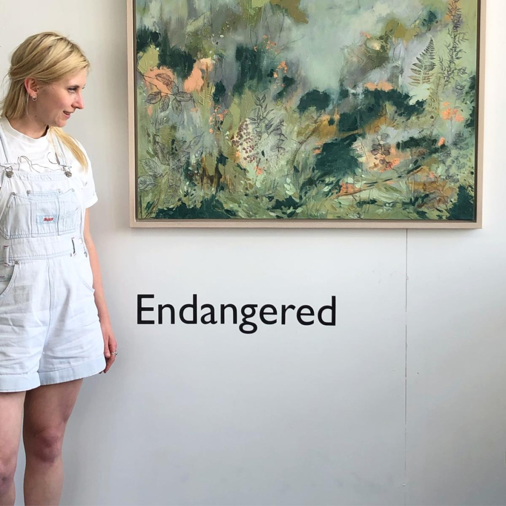 Sky Siouki painting 'Hope' - Endangered exhibition