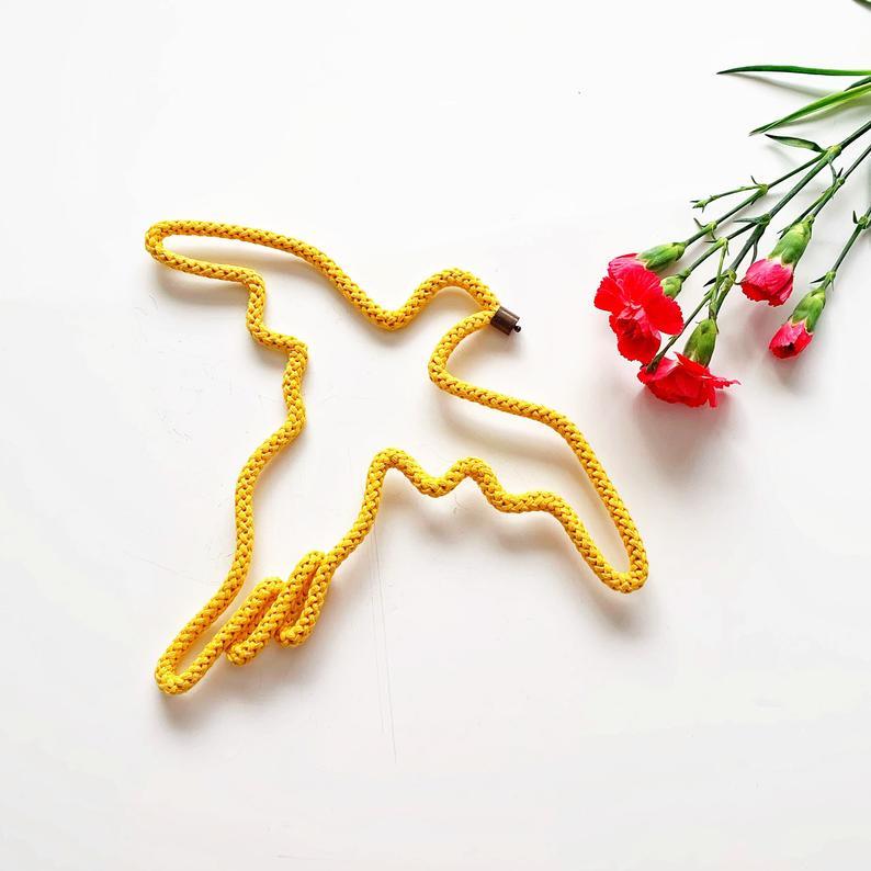 Peace brooch by Handmade by Tinni