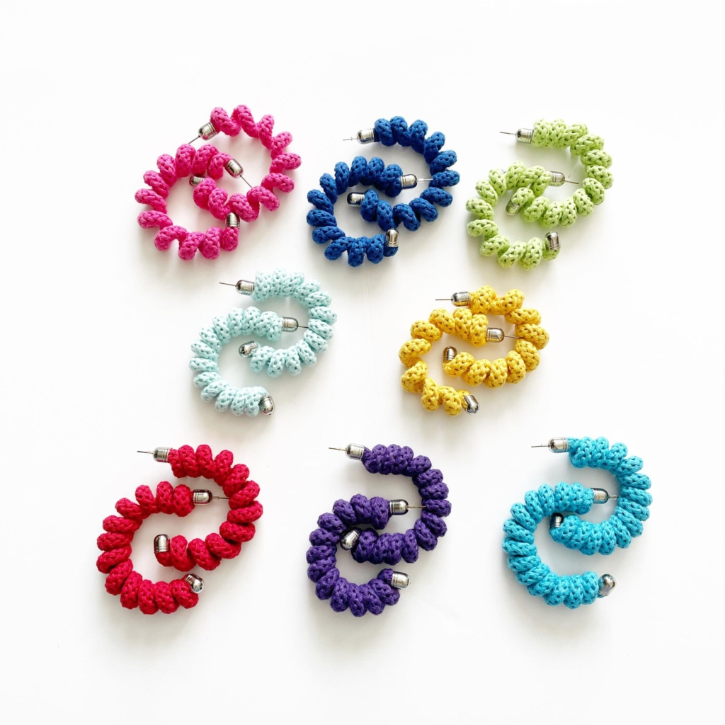 Spring earrings in rich colours by Handmade by Tinni