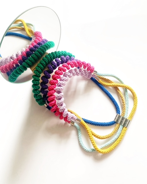 Spring necklace in rich colours by Handmade by Tinni