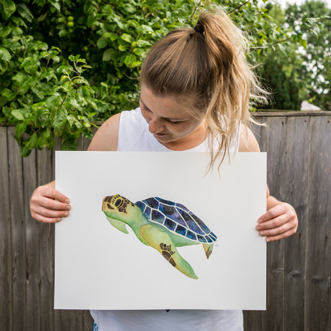 Jem Loves To Draw - Jem with turtle painting